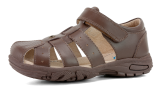 Surefit_school sandal_Taylor_brown